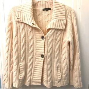 Eddie Bauer cable knit cardigan sz XL